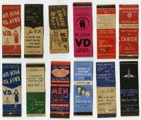 Venereal disease prevention matchbook covers, ca. 1941-45. Gift of William H. Helfand.