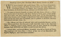 Extract of a Letter from New-Town, (Bucks County,) December 27, 1776. Philadelphia: W. and T. Bradford, 1776.