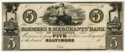 Bank notes. Philadelphia and New York: Draper, Toppan & Longacre, ca. 1840.
