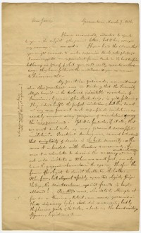 Letter from John F. Watson to James B. Longacre, March 7, 1826. Page 1.