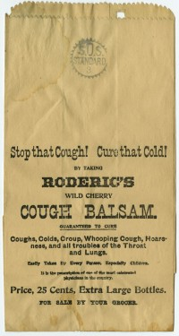 Advertising paper bags, ca. 1855-ca. 1880. Gift of William H. Helfand.