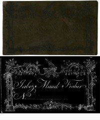 Line-engraved copper printing plate of Jabez Maud Fisher calling card, ca. 1830. Gift of David Doret.
