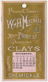 William H. Mitchell. Prices Current. Philadelphia, 1875.