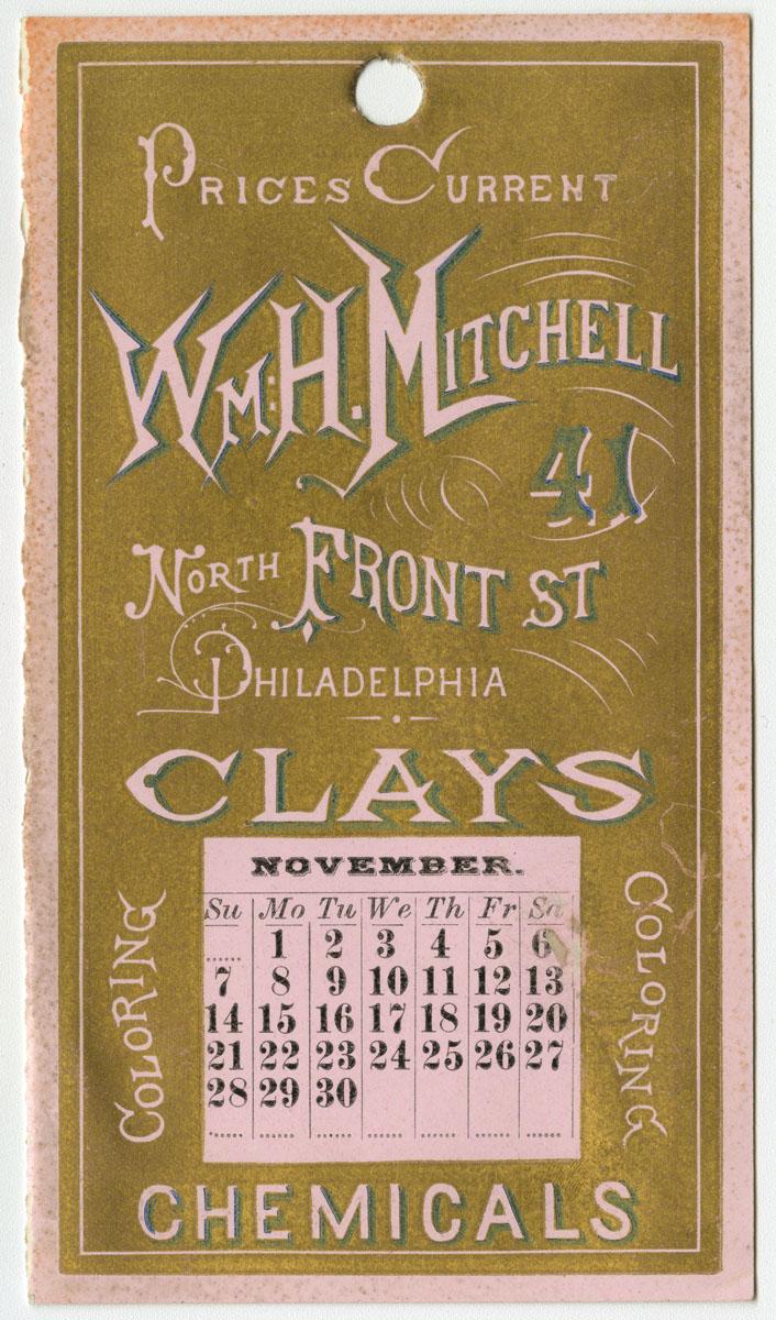 William H. Mitchell. Prices Current. Philadelphia, 1875.