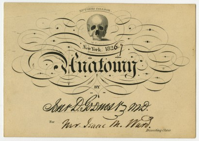 Medical lecture admission cards, 1807-1833. Gift of William H. Helfand.