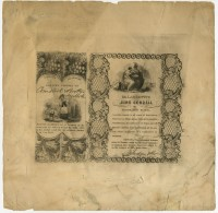 Dr. Larzetti's Juno Cordial or Procreative Elixir. New York: Judson & Co., 1844. Uncut engraved label. Gift of William H. Helfand.