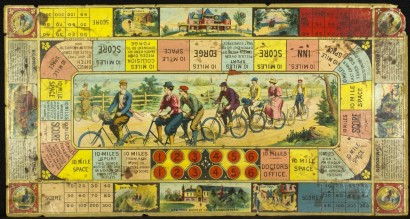 Bicycle clubs gameboard. United States, ca. 1896.