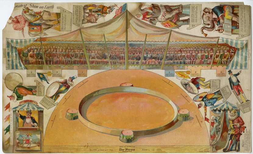 "Forbes Co. ""Greatest Show on Earth ."" Art supplement to The Philadelphia Press, April 12, 1896. Chromolithograph."