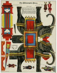 "Armstrong & Co. ""Jumbo."" Art supplement to The Philadelphia Press, June 14, 1896. Chromolithograph."