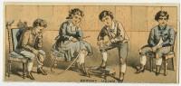 Metamorphic trade cards, ca. 1880-1895.