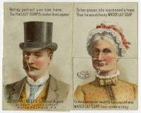 Metamorphic trade cards, ca. 1880-1895.