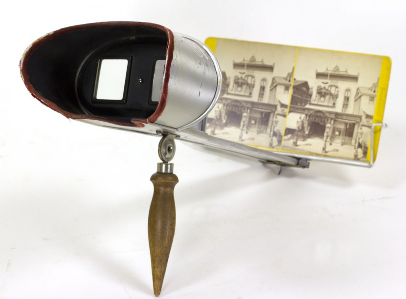 The format of paper stereographs evolved over the decades. Initially produced with square corners, the photograph mats soon thereafter assumed rounded corners to better fit the stereoviewers. In the late 1870s, curved cards were introduced to further enhance the three-dimensional effect.