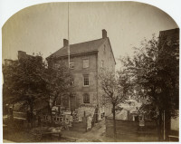 Robert Newell. Old Commissioners Hall. Philadelphia, ca. 1869. Albumen print.