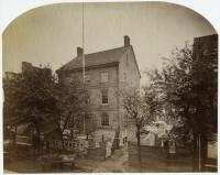 Robert Newell. Old Commissioners Hall. Philadelphia, ca. 1869. Albumen print.