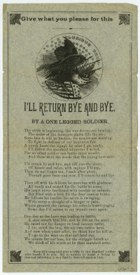 I'll Return Bye and Bye. By a One Legged Soldier. United States, ca. 1900. Gift of George Allen.