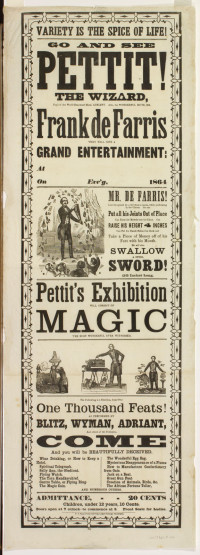 Variety is the Spice of Life! Go and See Pettit! Philadelphia: U.S. Steam-Power Job Print, 1864.