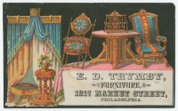 E. D. Trymby, Furniture, 1217 Market Street, Philadelphia. Philadelphia, ca. 1880. Chromolithograph.