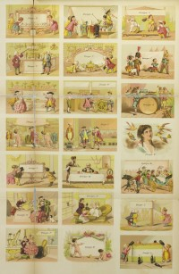 Specimens of Theatrical Cuts: Being Fac-similes, in Miniature, of Poster Cuts ... Ledger Job Printing Office, Public Ledger Building, Philadelphia, George W. Childs, Proprietor. J. E. Jackson, Business Manager. Philadelphia, 1869. Gift of S. Marguerite Brenner.