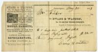 Evans & Watson, No. 76 South Third Street Opposite the Philadelphia Exchange. Philadelphia: Bond & Clayton, printed ca. 1840, issued 1848.