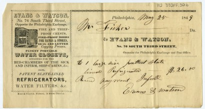 Evans & Watson, No. 76 South Third Street Opposite the Philadelphia Exchange. Philadelphia: Bond & Clayton, printed ca. 1840, issued 1848.