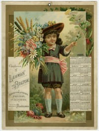Compliments of Lehman & Bolton, Lithographers, Printers, Publishers. 715, 717, 719 Arch Street. Philadelphia, 1885. Chromolithograph. Gift of Helen Beitler.