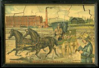 Hood's Sarsaparilla Rainy Day Puzzle. Lowell, Mass.: C. I. Hood & Co., 1891. Chromolithograph in original accompanying frame.