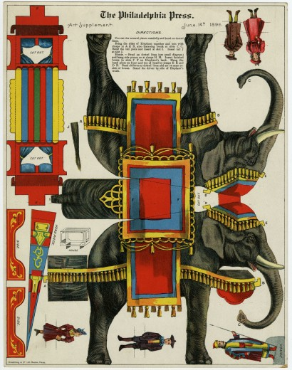 "Armstrong & Co. ""Jumbo."" Art supplement to The Philadelphia Press, June 14, 1896. Chromolithograph."